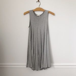 UO Silence + Noise Light Gray Trapeze Flowy Dress